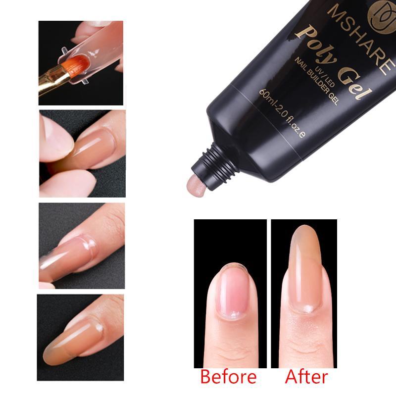 Wholesale Poly Gel Nails Polygel Art Pink White Transparent Clear Uv
