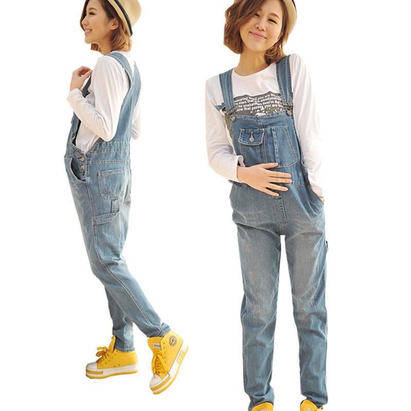 ea17f304471 Envsoll Maternity Pants Jumpsuit Light Blue Denim Plus Size Overalls  Pregnant Jeans For Pregnant WomenSuspender Trousers UK 2019 From Rainbowny