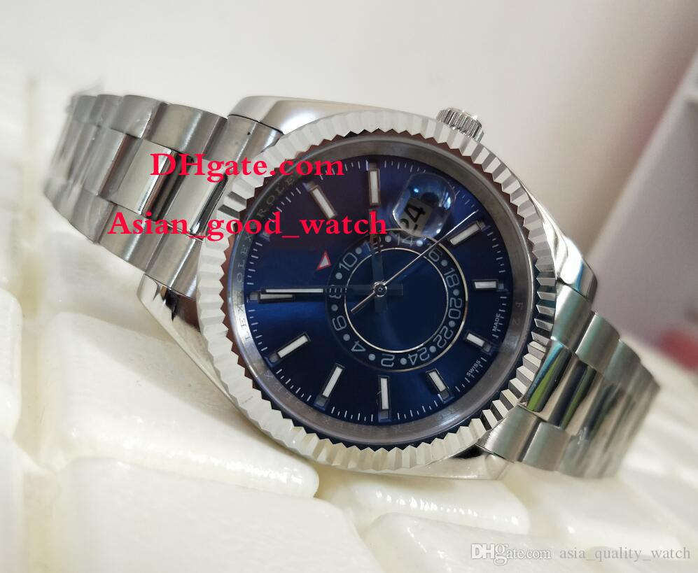 ba2ced31682 Men Luxury AAA Watch 42MM 326934 Blue Dial SKY-DWELLER Stainless ...