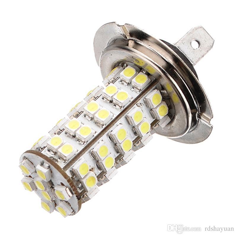 Xenon White 68 SMD Car Auto H7 6000K LED Bulb Head Light Fog Daytime Lamp Vehicle 12V Fog Lights Parking Lamp Bulb