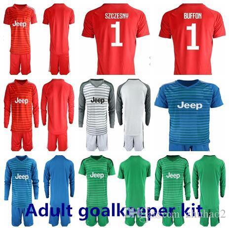 Compre 2018 Futebol Juventus Goleiro Kit   1 SZCZESNY BÚFÃO Ronaldo DYBALA  HIGUAIN Camisa De Futebol Kit Curto Manga Longa Goalie Uniformes Kit De  Zhuhao2 98f952d4bb29d