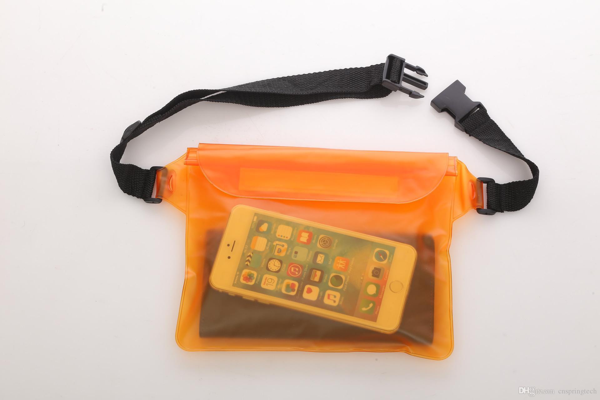 Venda quente À Prova D 'Água Bolsa Saco Seco Caso Capa Para o Telefone Celular para iphone x 7 8 samsung s8 htc e mais frete grátis