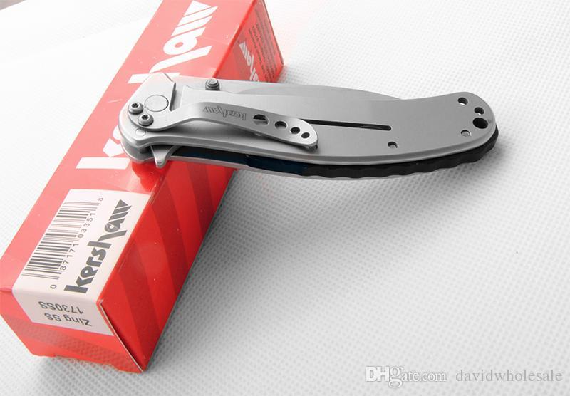 Großhandelskershaw 1730 SS-faltendes Messer-Taschenmesser Soem-Qualität ursprüngliche Kasten nicht frei shippiing der niedrigste Preis Seite lock8cr17mov Klinge