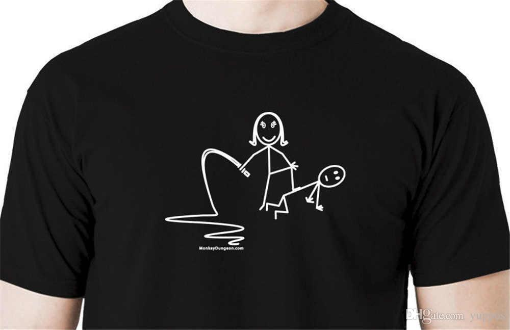 Cotton Men T Shirt Dominatrix Stick Figure T Shirt Handcuffs Restraints Tie  Hogtie Rope On Knees Funny Casual Clothing Funniest T Shirt Comical T Shirts  ...