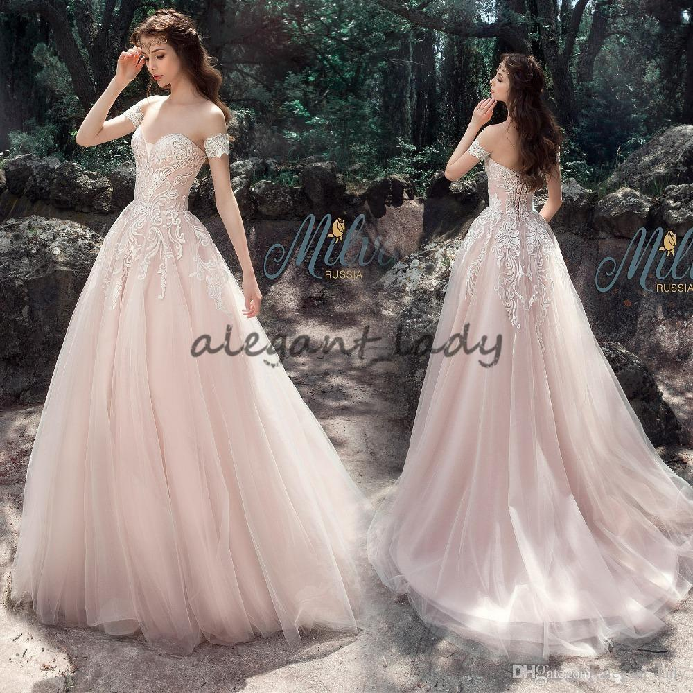 Fashion style Princess pink wedding gowns for girls