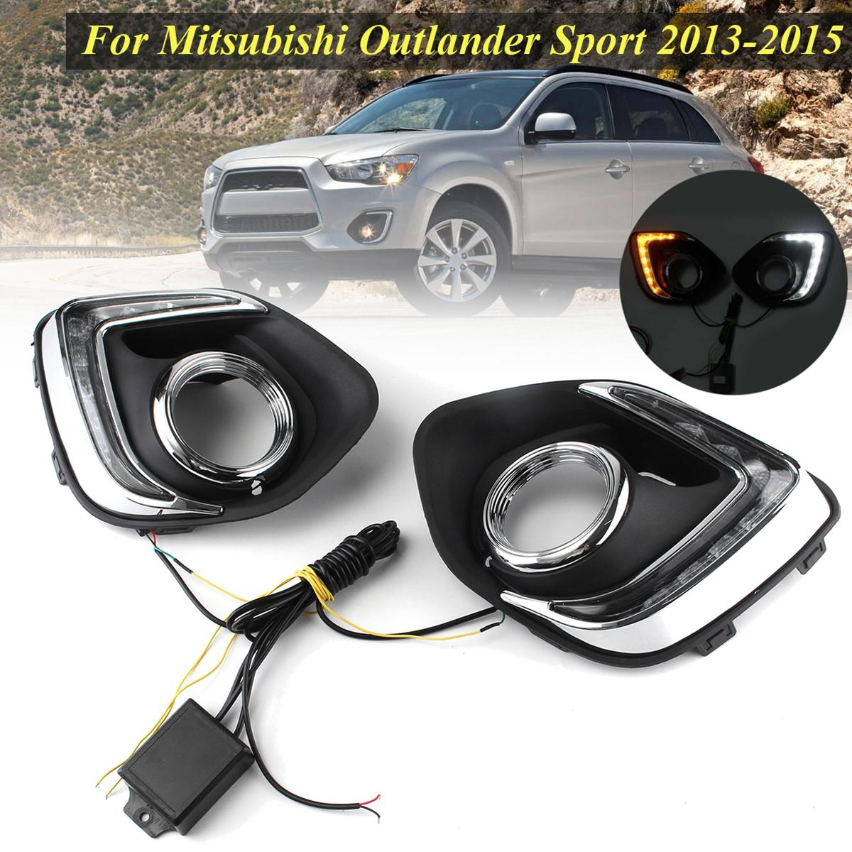 For Mitsubishi Asx Outlander Sport 2013 2015 Led Drl Running Lights Warning Light Daytime Daylight 12v Lamp Car Styling Drls Day From