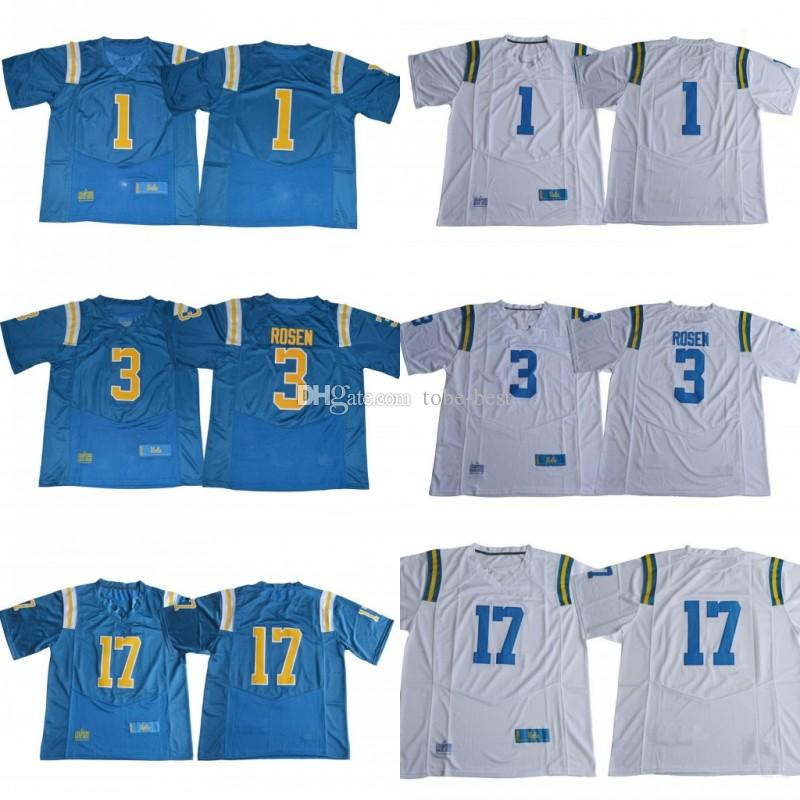 e9e5e5a67 2019 NCAA UCLA Bruins Football Jerseys College Men 1 Soso Jamabo 3 Josh  Rosen 8 Troy Aikman 17 Christian Pabico Stitched Team Blue White PAC 12  From Tobe ...