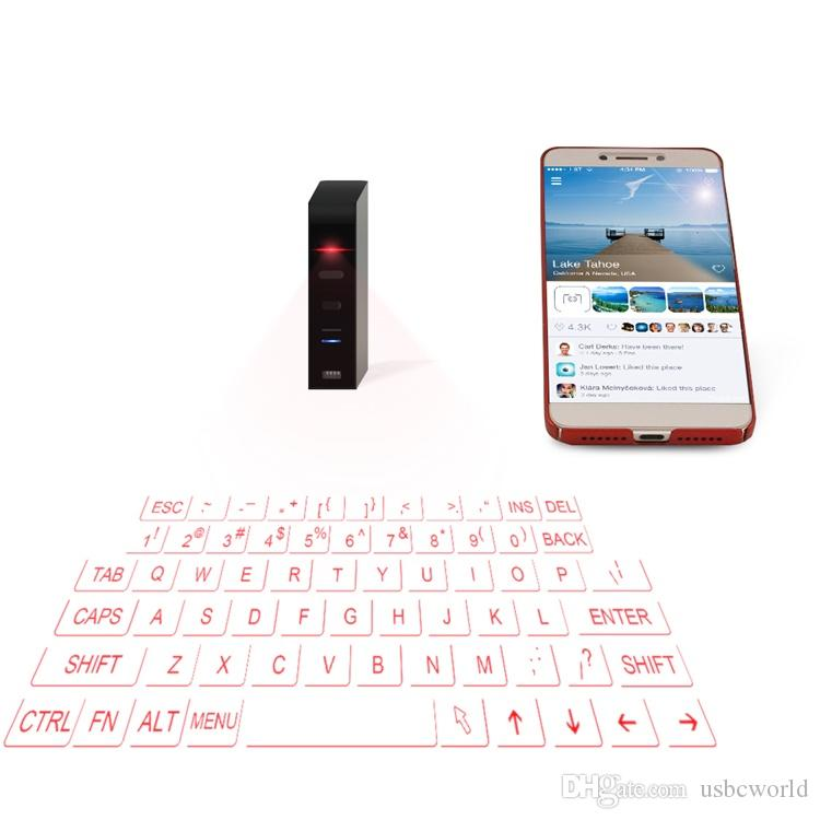 New Laser Keyboard Wireless Virtual Projection Keyboard Portable For Iphone Android Smart Phone Ipad Tablet PC Notebook
