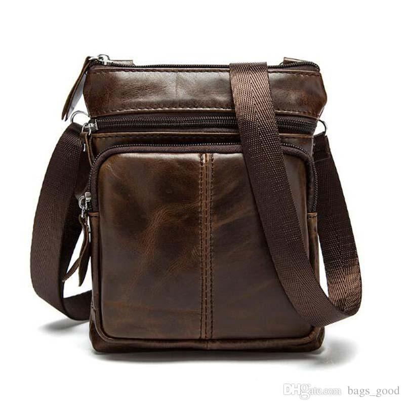 9b827d4217cf New Genuine Leather Men Bags Male Small Cowhide Flap Shoulder Bag Crossbody  Bags Handbags Messenger Bags Black Handbag Hobo Purses From Bags good