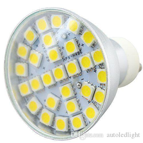 GU10 MR16 E27 29 SMD5050 LED 7W cBulb 220V Light Bulb Lamp 600-650lm aluminum white warm white