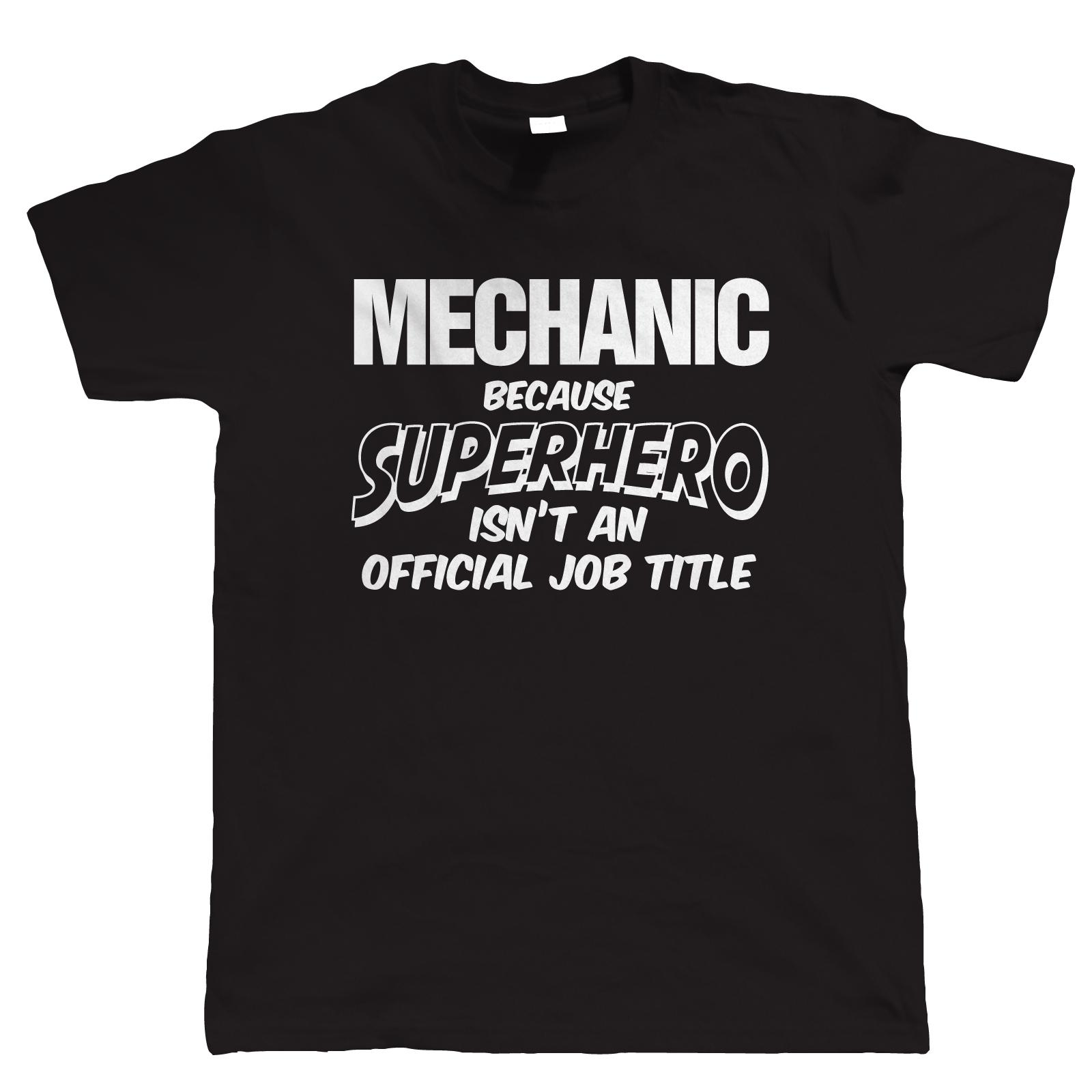 Mechanic Superhero Mens Funny T Shirt Birthday Gift For Dad Him