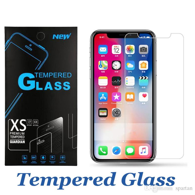 size 40 a2143 fea2a For iPhone 9 Tempered Glass Iphone x 2018 Screen Protector for iPhone 7 8  Plus J7 Refine J3 Achieve Film 9H Anti-shatter