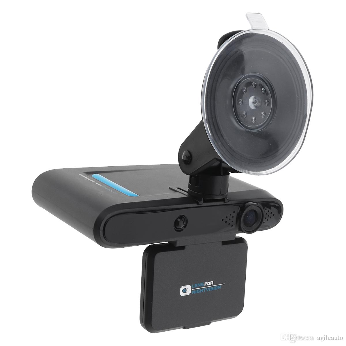 2 in 1 Radar Detector Camera and Car DVR HD Dash Camera Recorder with G-Sensor Loop Recording Motion Detection CAL_50B