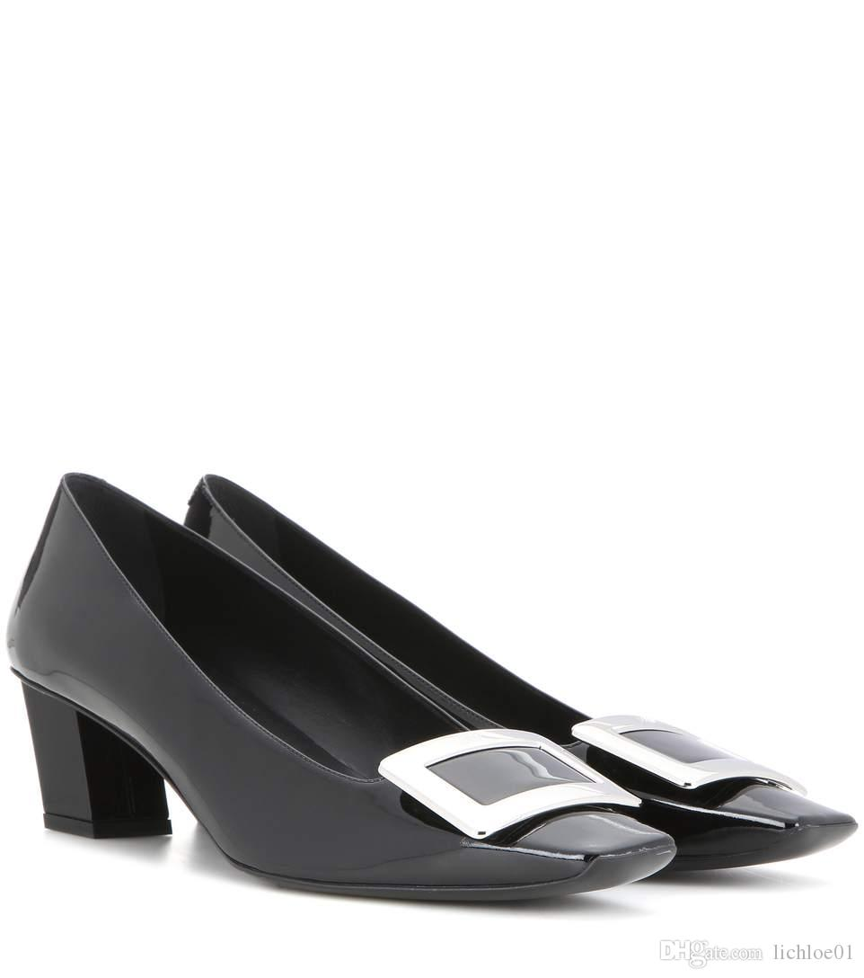 93b457bf60b4 Black Decollete Belle Patent Leather Pumps Pink Shoes Munro Shoes From  Lichloe01