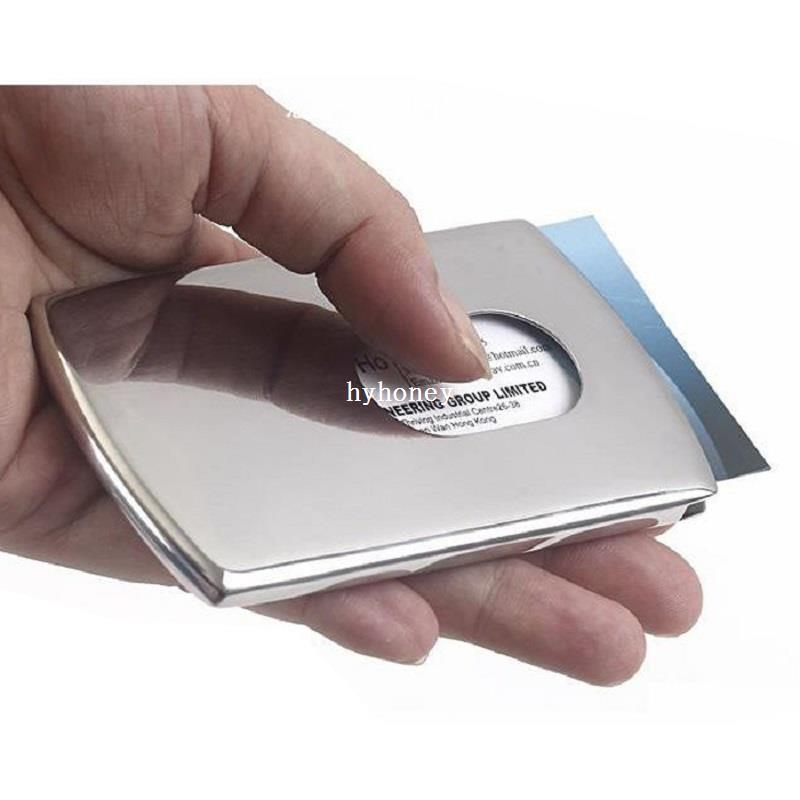 2018 Sliding Business Card Holder Women\'S Stainless Steel Credit ...