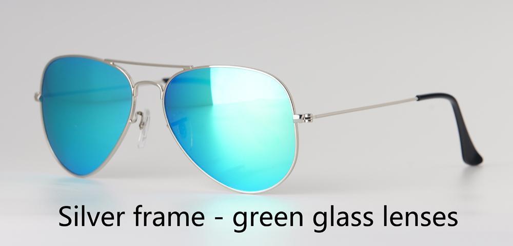 ücretsiz Perakende Davası ve etiket ile 18 Renkler Marka Tasarımcı Pilot Güneş gözlüğü Erkekler Kadınlar İçin 58 / 62mm metal çerçeve UV400 degrade cam mercek
