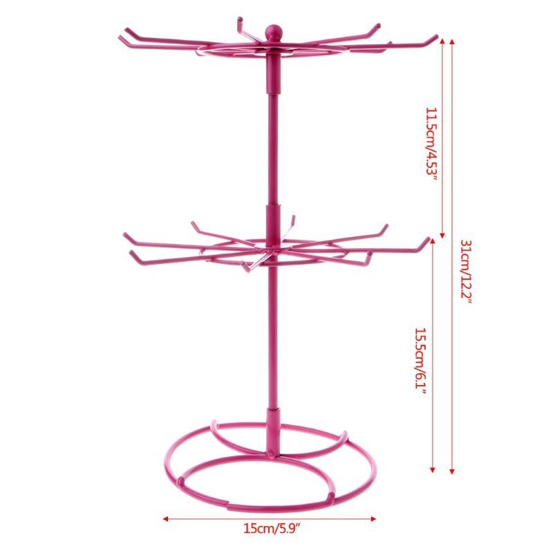Multifuncional De Metal Colar De Corrente Pulseira Titular Rotação Jóias Display Stand Rack Hanger