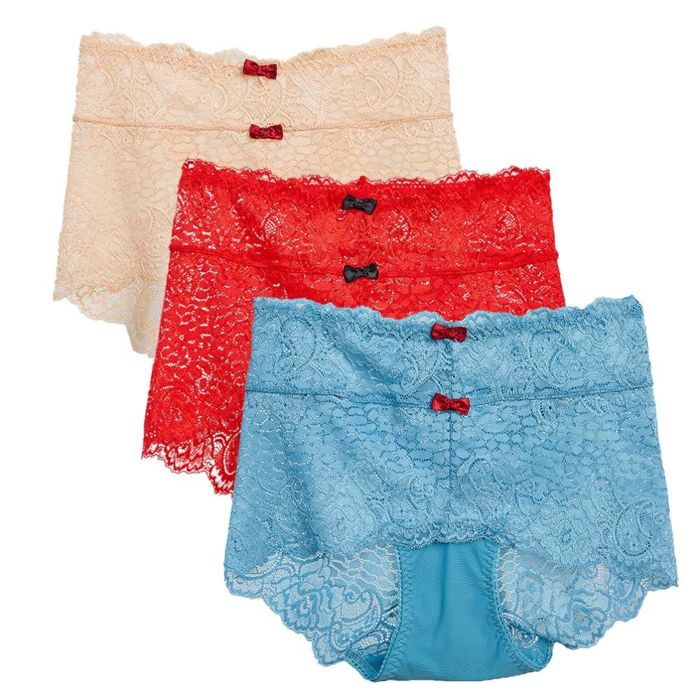 4e374ac37 2019 Missonchoo Women S Lace High Waist Briefs Plus Size Tummy Control  Stretch Underwear Pants Seamless Panties 3 Pack From Jinggongcoat