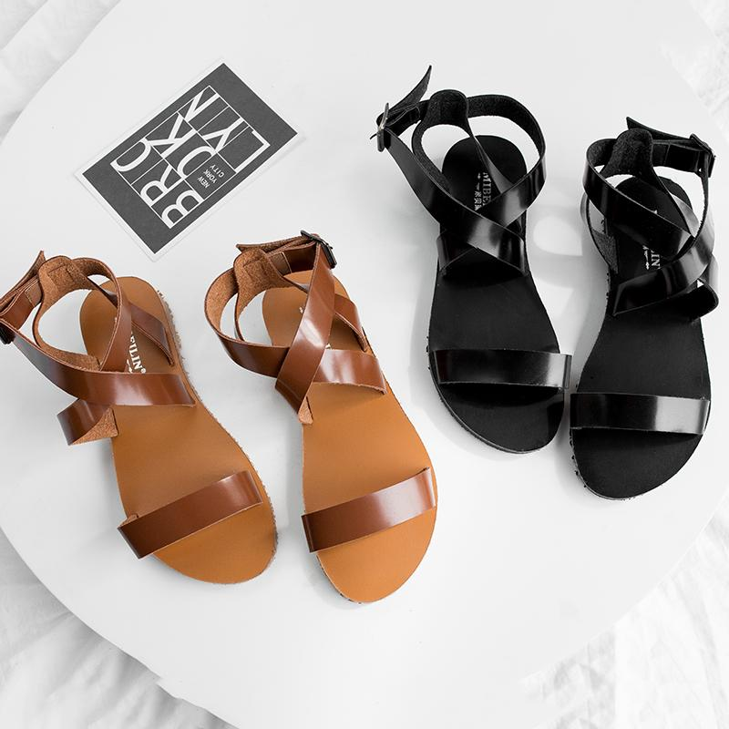 065126a104 GOXPACER Summer Women Shoes Sandals Comfortable Flat Heels Fashion Flats  Open Toe Genuine Leather Gladiator Soft Boys Sandals Dansko Sandals From  Slimwindy, ...
