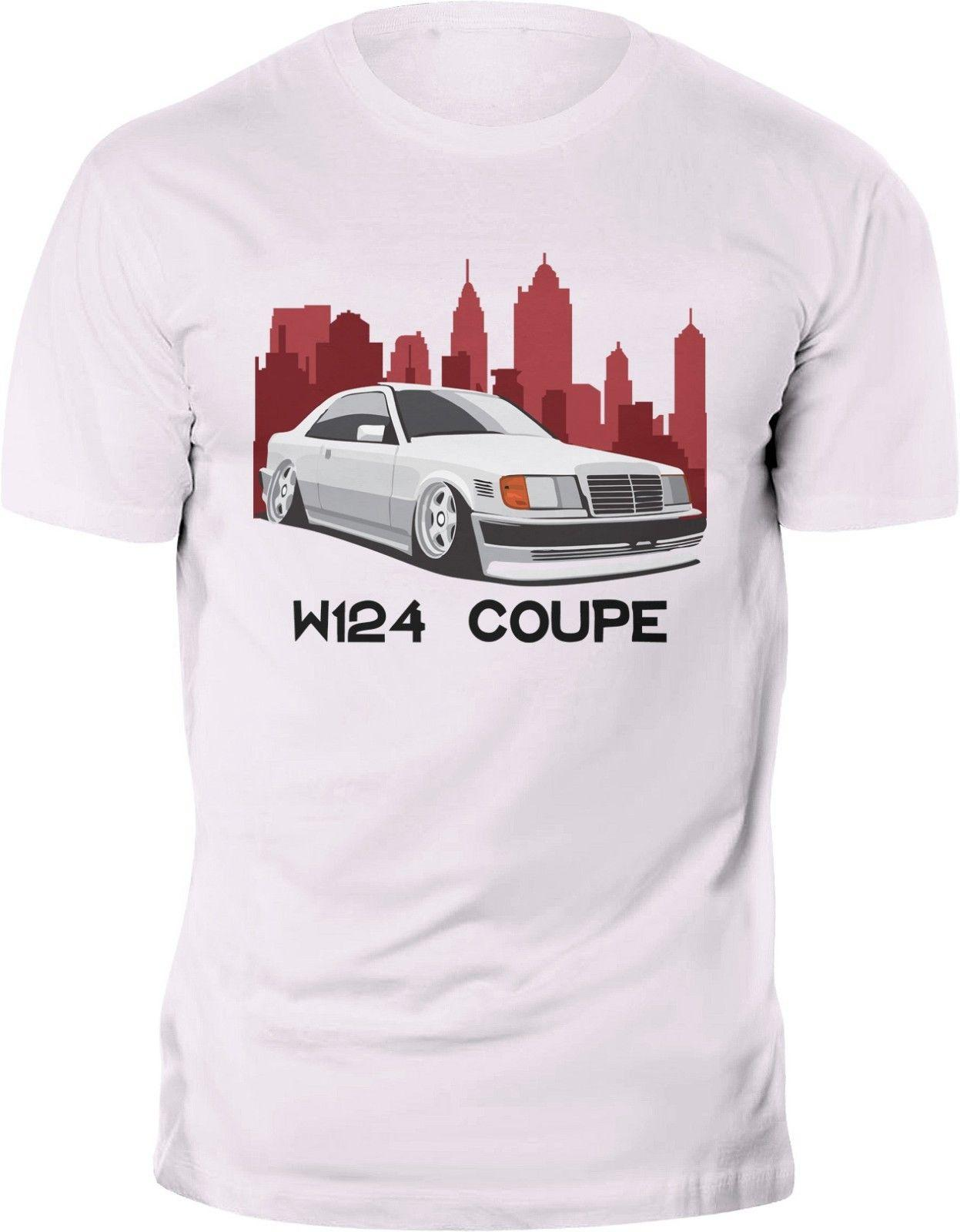 Mercedes W124 Coupe AMG Classic T-shirt Custom print Funny free shipping  Unisex Casual tee top