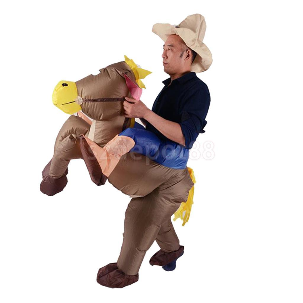 unisex inflatable donkey rider costume halloween christmas
