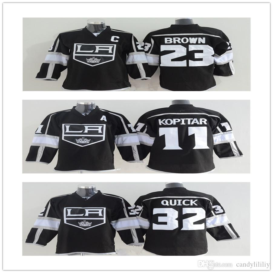 2018 Youth Los Angeles Kings Hockey Jerseys 11 Anze Kopitar 32 Jonathan  Quick 23 Dustin Brown Cheap La Kings Jerseys From Candylililiy 7c9b4d45c