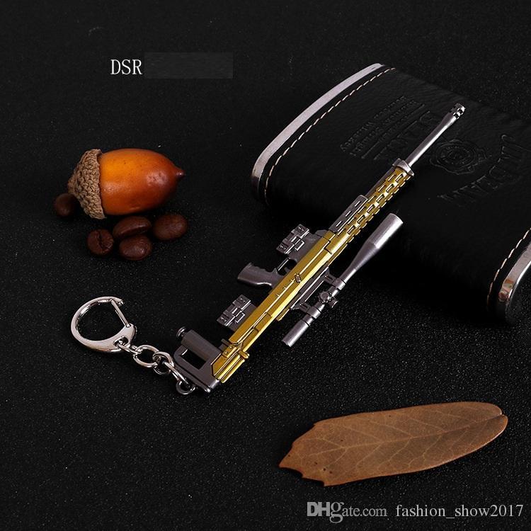 Jogo FPS Playerunknowns Battlefields Keychain Rifle Ornamentos 98KAWM PUBG Pingente De Metal Jóias Presente Da Criança Brinquedo Modelo de Arma