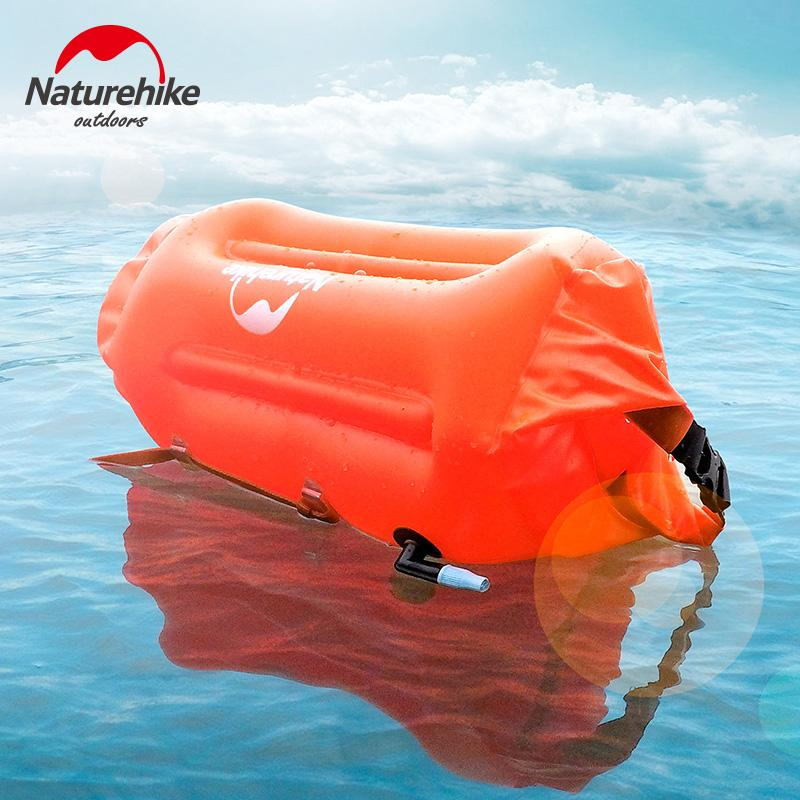 Naturehike Factory Store Outdoor Waterproof Bag Dry Wet Separation Swimming Bag Beach Mobile Phone Snorkel Backpack Drifting Bag Water Bags