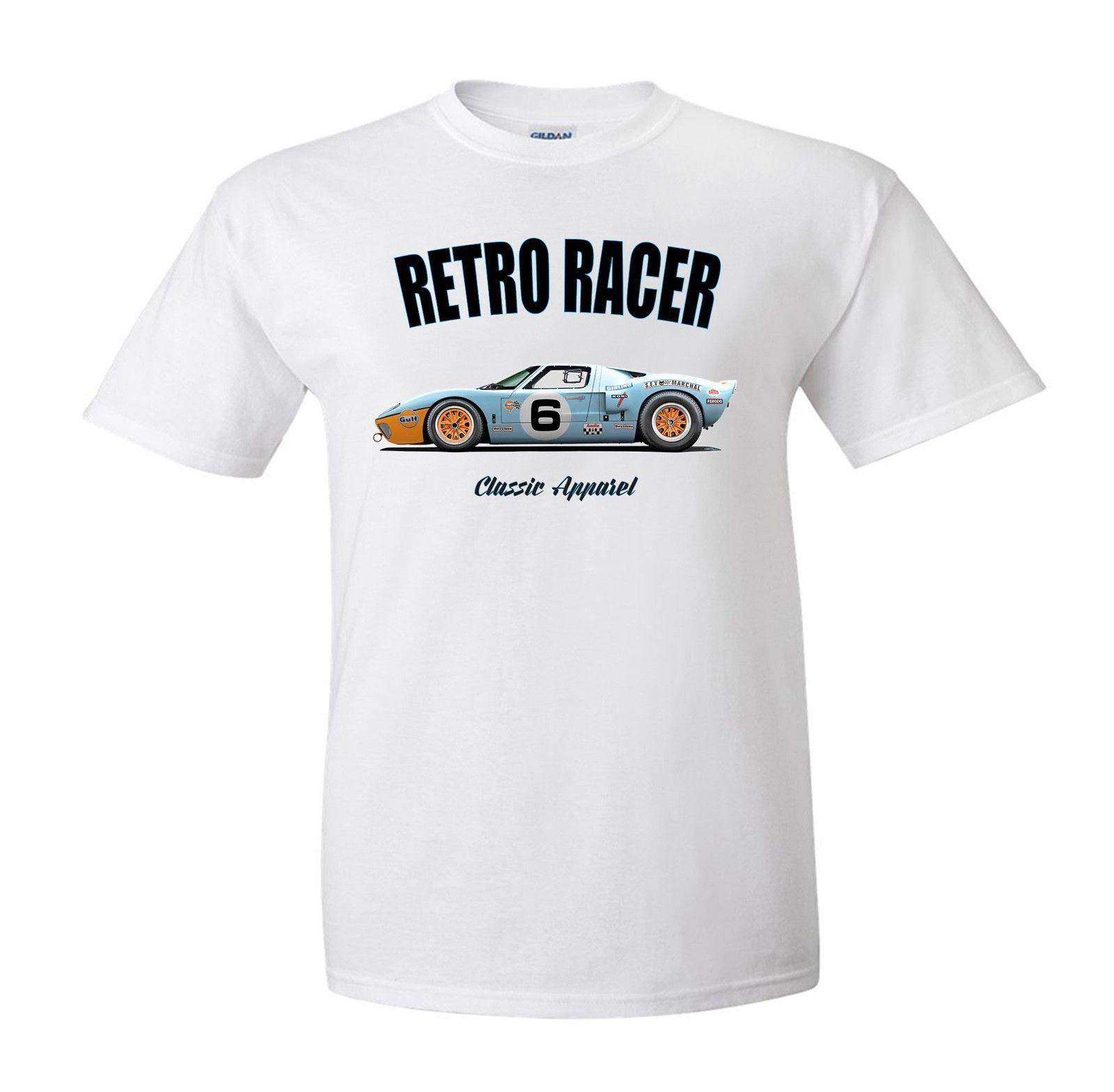 Ford Gt T Shirt Retro Racer Classic Car Race Car Gt  Buy Tshirts The Who T Shirts From Xsytshirt   Dhgate Com