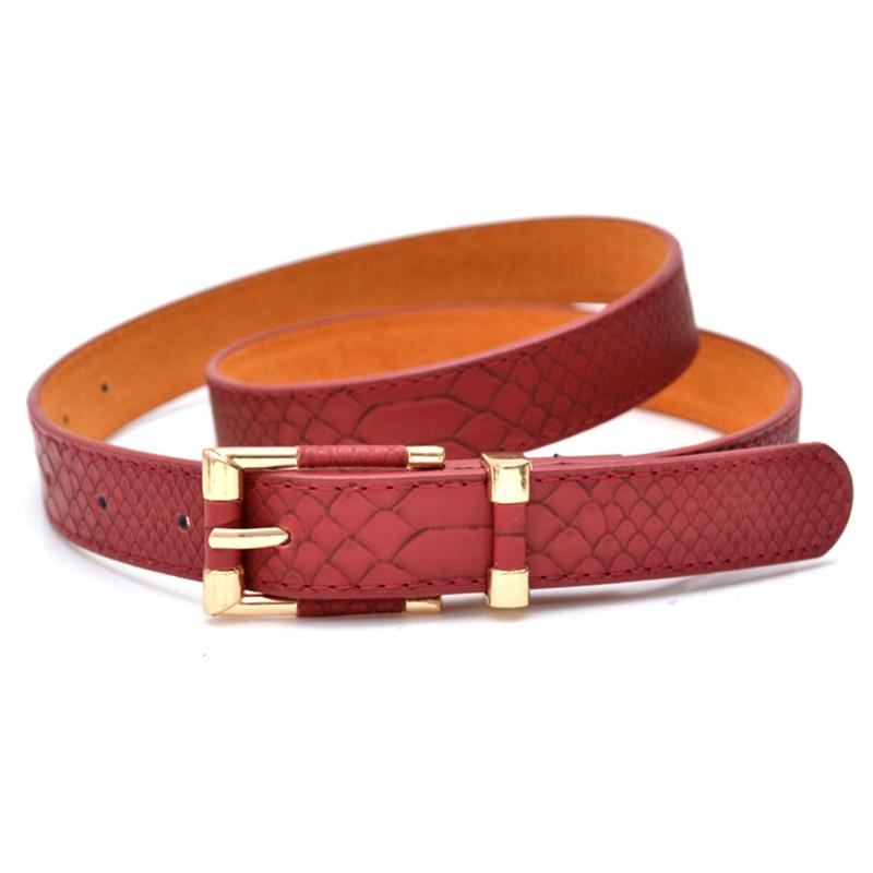 ff20effd4 Fashion New Belts Fashion Crocodile Punk Thin Waist Belt Black Red Trench  Female Genuine Leather Strap Buckle Women Animal Waist Belt Black Thin  Waist Belt ...