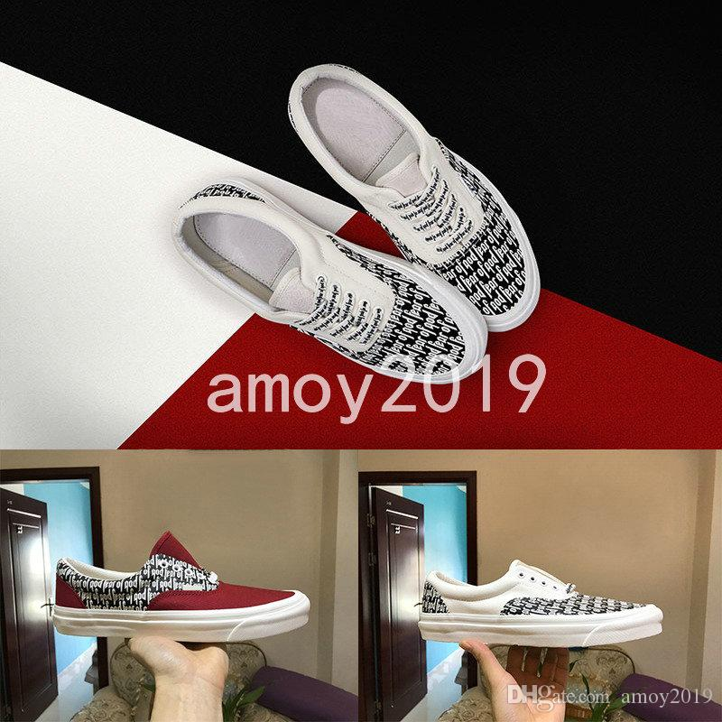 Fear of God Men Women Canvas Shoes Fog 2018 Casual Shoes sports Sneaker Old Skool x Era 95 Reissue Mens Trainers Canvas Shoes cheap sale good selling uxVGyWoB3