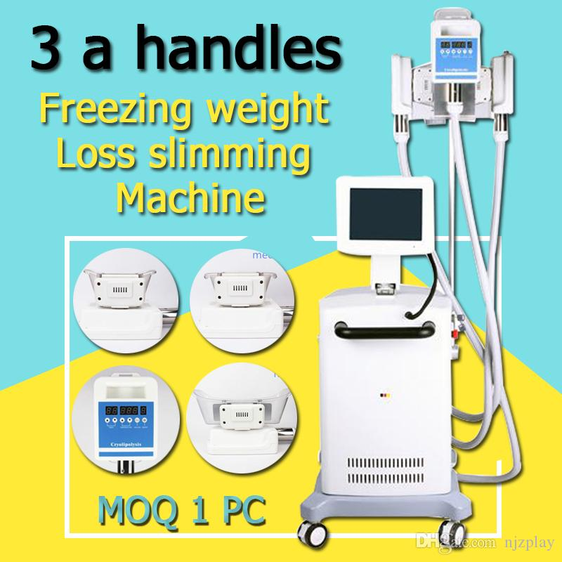 NEWEST !!! 3 handles laser vacuum cold cool cryo therapy fat freeze  freezing weight loss slimming machine CE certification MOQ 1 pcs