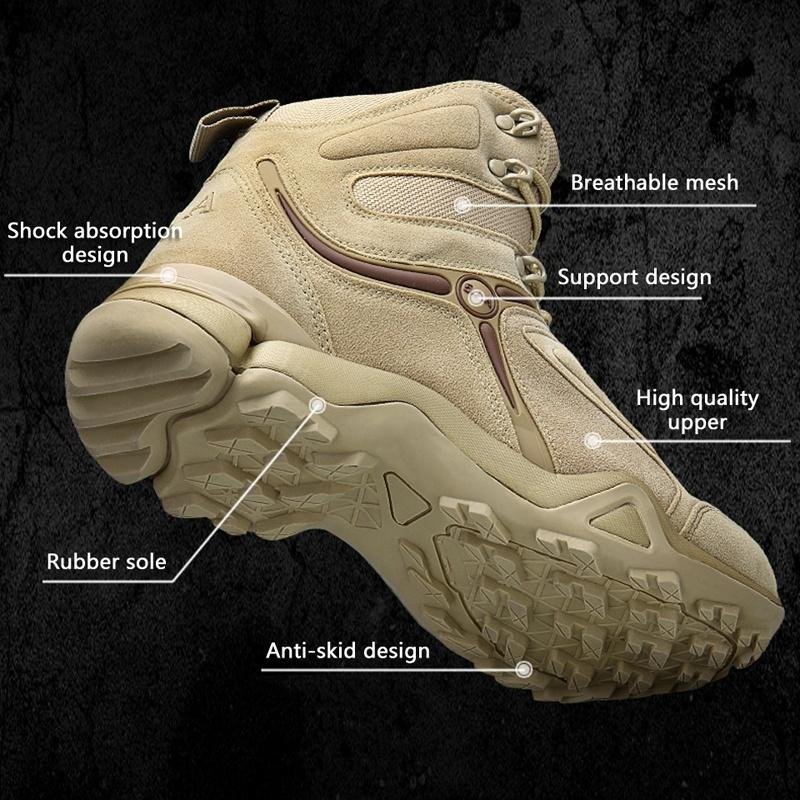 537eab898d34 Mens Ankle Boots Army Tactical Outdoor Waterproof Hiking Boots ...