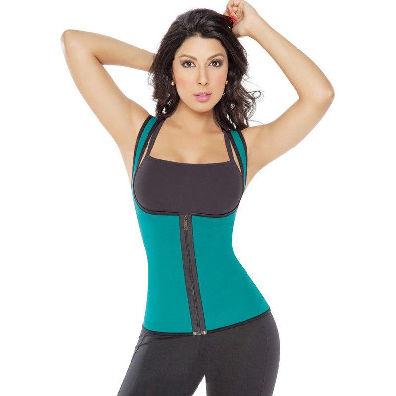 2a3b4f2092 Ultra Sweat Women Body Shaper Neoprene Waist Trainer Vest Sauna Cincher  Weight Loss Girdle Slimming Belt Waist Slim Corset Online with  28.35 Piece  on ...