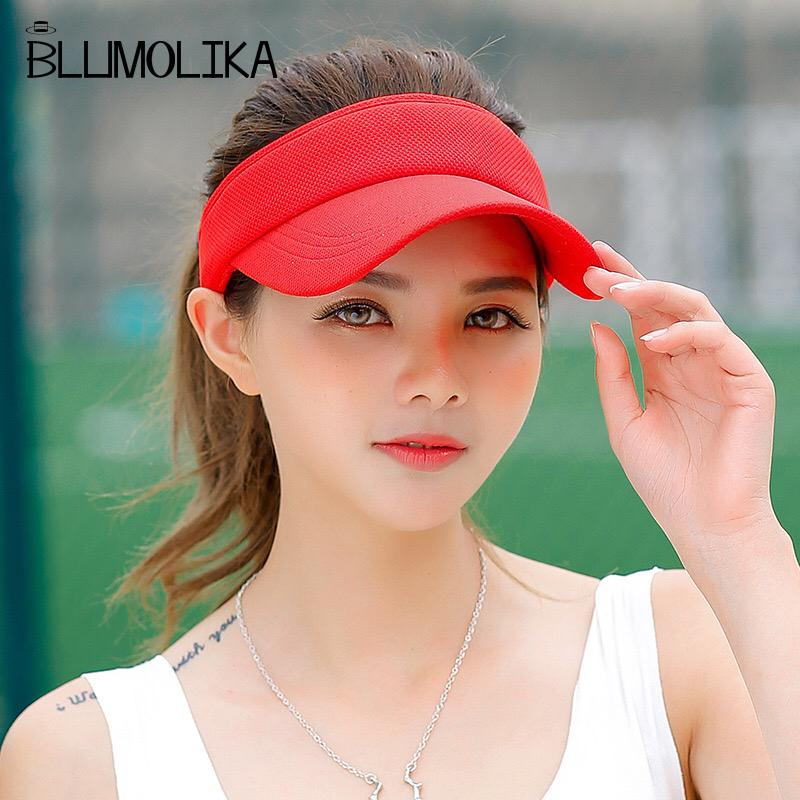 Wholesale Fashion Topless Tennis Caps Solid Color Sun Hat For Women Summer  Beach Girl s Sport Visor Hats For Hiking Travelling Sun Hat Straw Hats From  Gocan ... 4eb7c78fe405