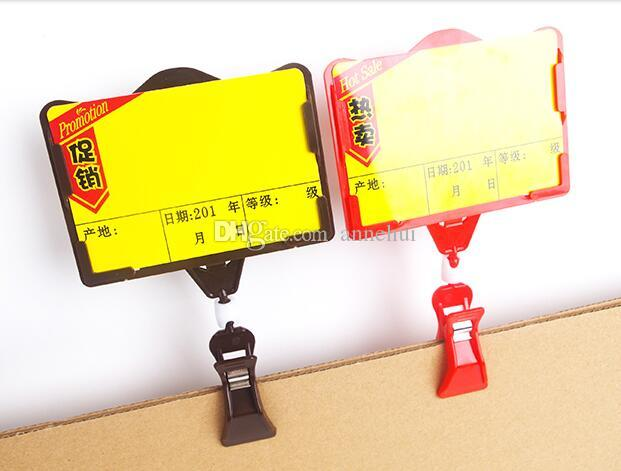 POP advertising poster price tag display frame pop vegetable fruit price clip holder for supmarket