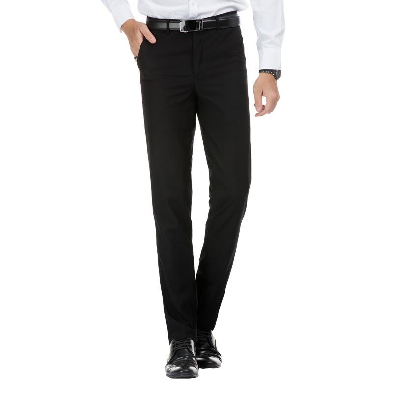 Plus Size 28 40 Spring Autumn Men Casual Business Loose Wedding Trousers  Slim Fit Thin Office Formal Wear Straight Pants 8J0501 UK 2019 From  Smotthwatch cb8feb55cd4f