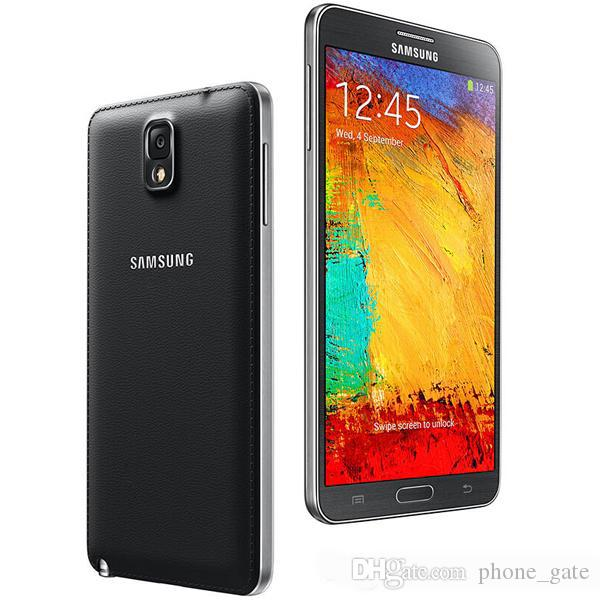 Ursprünglich überholtes Samsung Galaxy Note3 Anmerkung 3 N9005 N900A 5,7 Zoll 3G RAM 16G / 32G ROM Android Quad Core 13MP Kamera entriegeltes Mobiltelefon