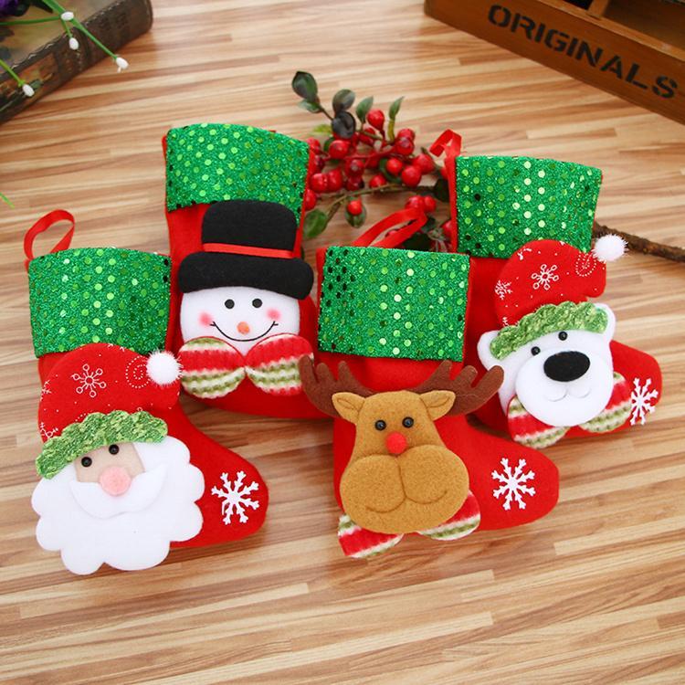 Großhandel 4 Stil Weihnachten Süßigkeiten Socken Geschenk Taschen ...