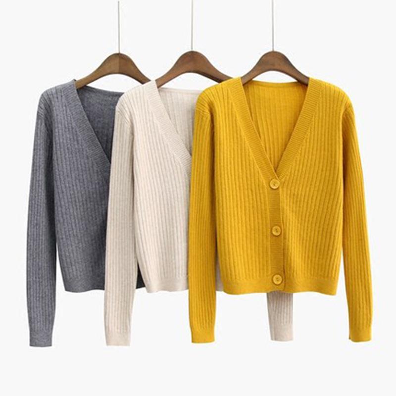 4f61d93374 Compre Harajuku Cardigan Senhoras 2018 Primavera Moda Camisola De Malha Das  Mulheres Grande Casaco Jaqueta Casual Roupas De Inverno Camisola Da Senhora  Do ...