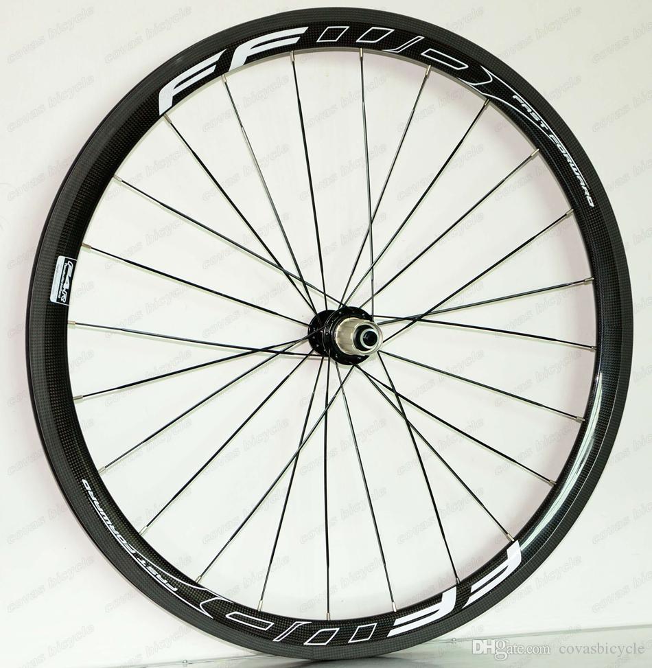 700C super light Climbing carbon wheels 38mm depth 25mm width clincher/Tubular Road bike carbon wheelset UD matte finish FFWD 4R decals