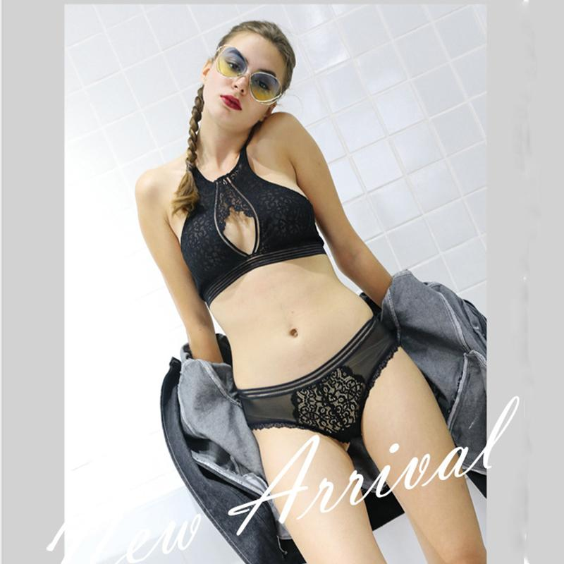 a33a2751f9 Wholesale Women Sexy Bra Set Lingerie Women S Female Underwear Lace Black  Green Purple Ultra Thin Full Cup Wire Free Halter UK 2019 From Clothesb911