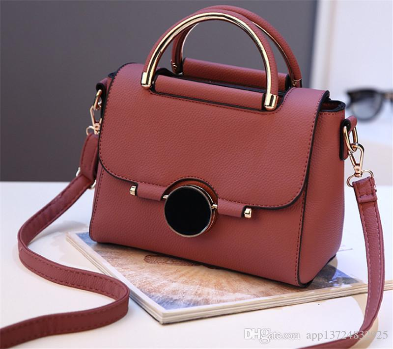 2018 Fashion Pu Luxury Brand Women Bags Handbag Famous Designer ... 3a90262ee4737