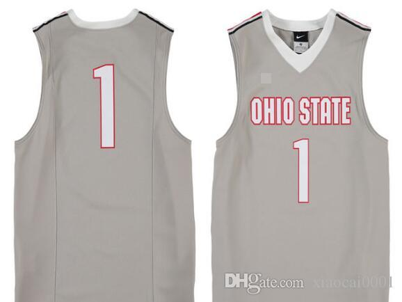 61ffe59b5cb 2019 #1 Gray Ohio State Buckeyes Basketball Jersey Embroidery Stitched  Customize Any Size And Name From Xiaocai0001, $43.66 | DHgate.Com
