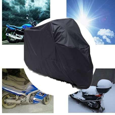 XXL Anti UV Rain Wind Snow Sun Dirt Waterproof Motorcycle Motorbike Cover Black