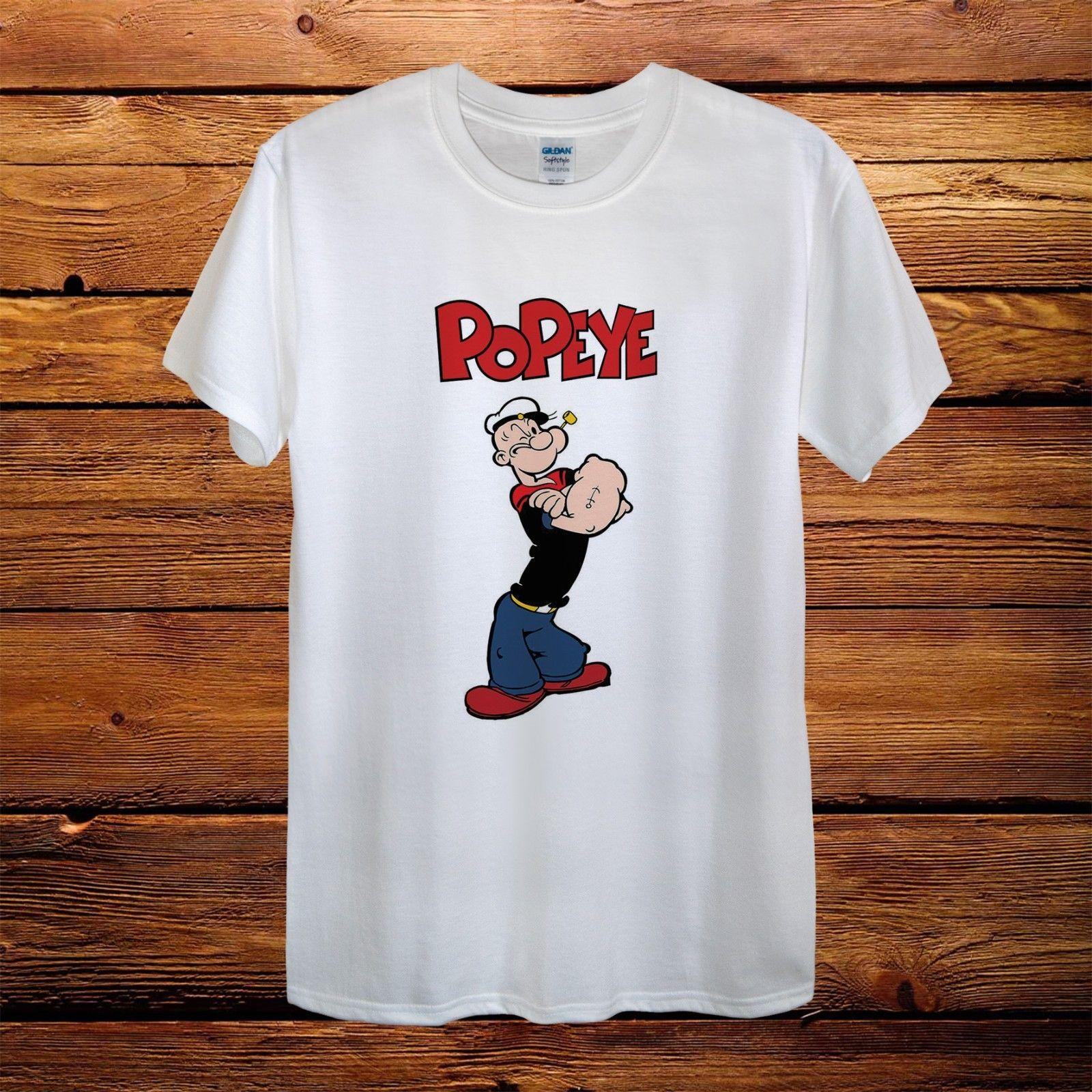 The Sailor Man Popeye Comics Gift Fun Top Design T-Shirt Men Unisex Women Funny free shipping