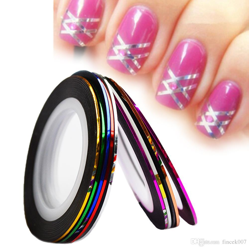 Laser Striping Tape Nail Art Line Sticker Diy Decals Uv Gel Acrylic