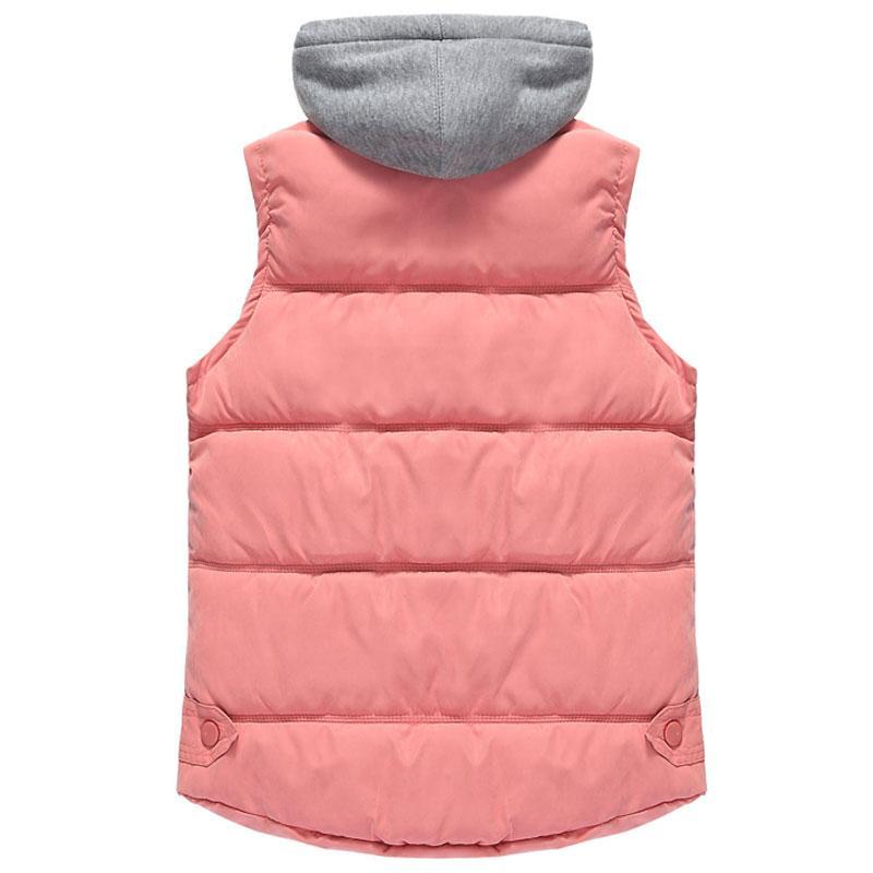 HEE GRAND 2016 Warm Autumn Chalecos Mujer Zipper Removable Hooded Women Vests Fashion Winter Outwear Coats 4XL WWV313