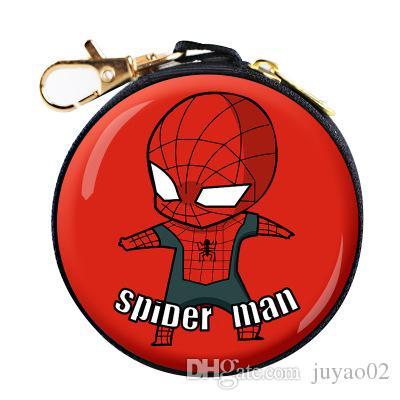 design de qualité 81293 020ca Marvel Avengers Iron Man Spider-Man Porte-Monnaie Q Edition Anime  Périphérie Cadeau Jouet Porte-Monnaie En Gros
