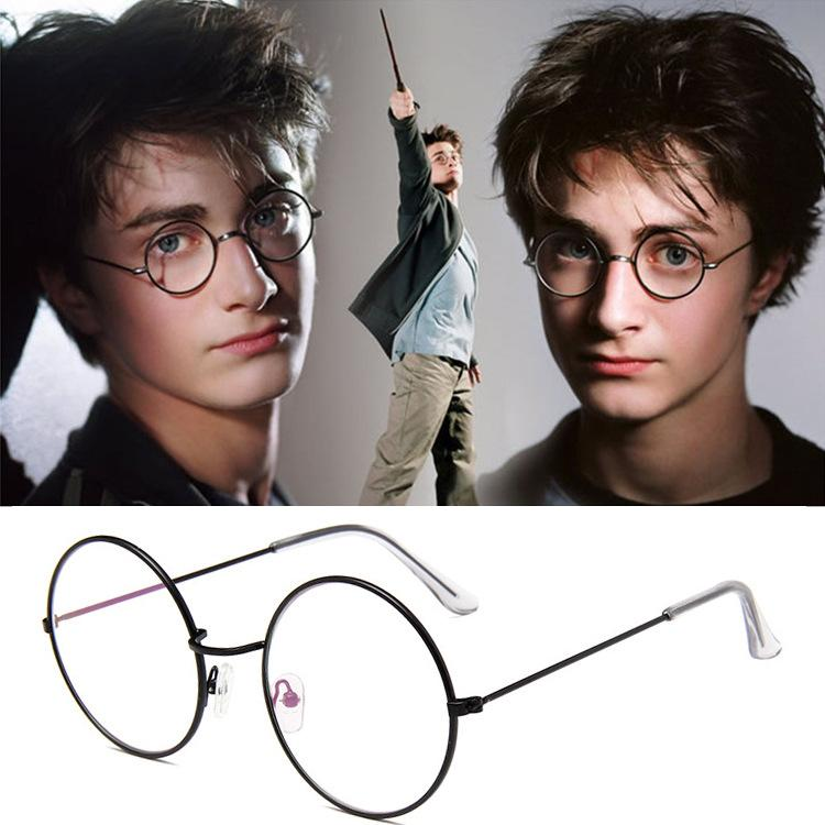 186f8b12a41d5 Compre Nova Moldura Redonda 3446 Espelho De Luz Moldura De Metal Harry  Potter Espelho De Luz Estilo Escola Desgaste Óculos De Armação Míope De  Lulu0122